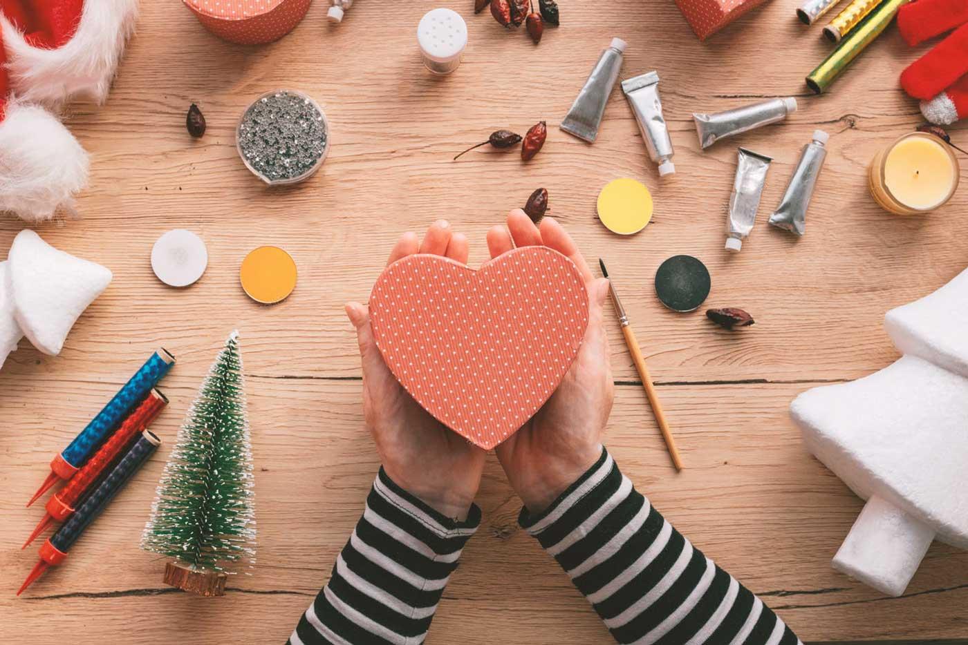 آموزش ساخت کاردستی جعبه قلب