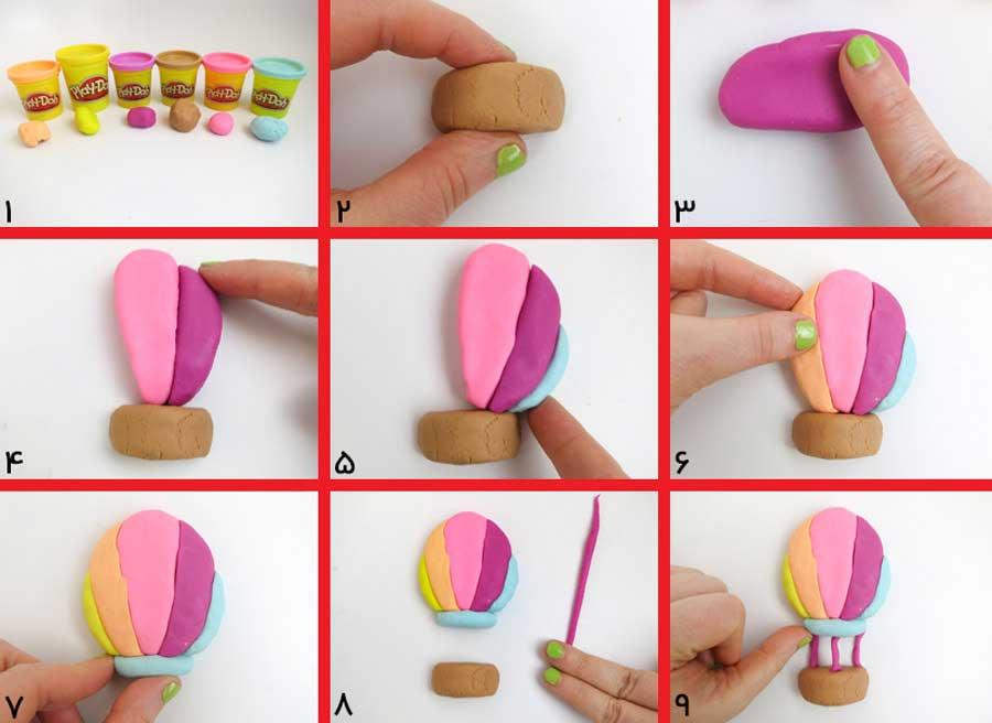 کاردستی با خمیر بازی