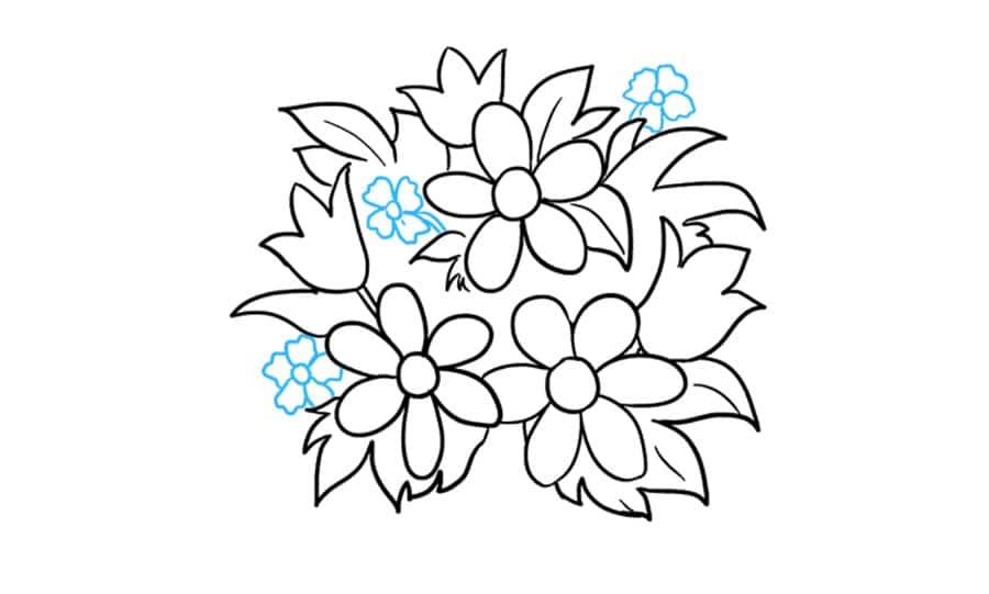 گل های ریز نقاشی