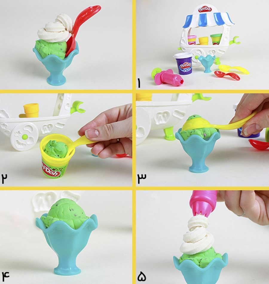 ساخت بستنی با خمیر بازی