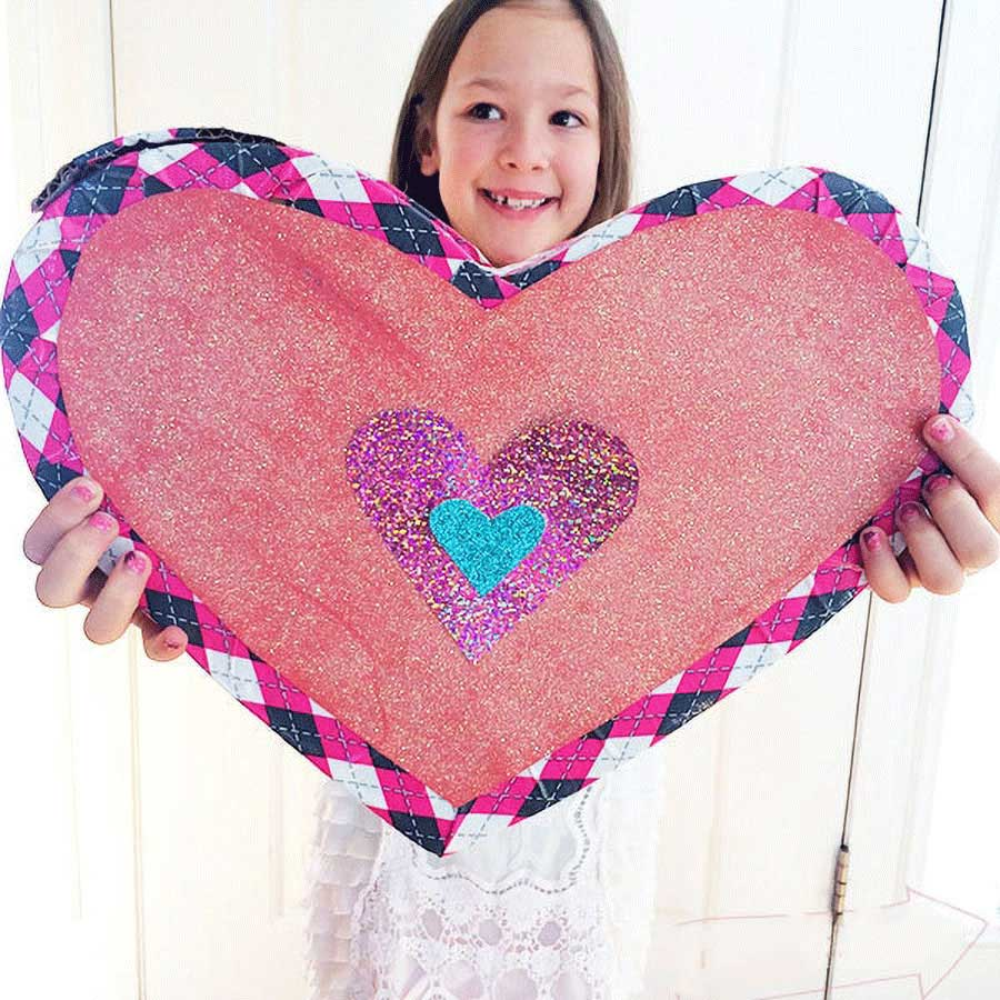 کاردستی جعبه قلب با مقوا