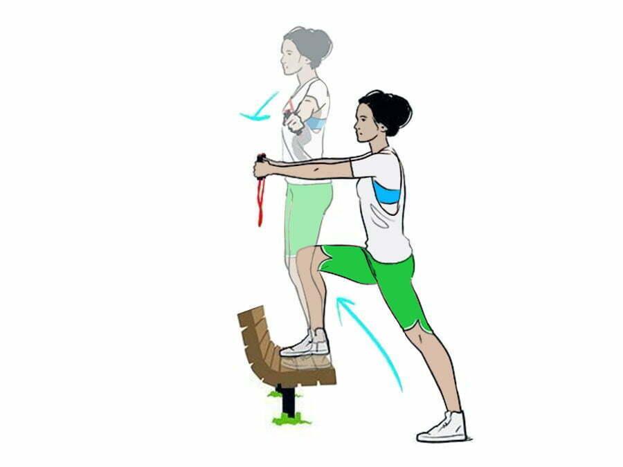 ورزش در پارک: تمرین با کش ورزشی 1