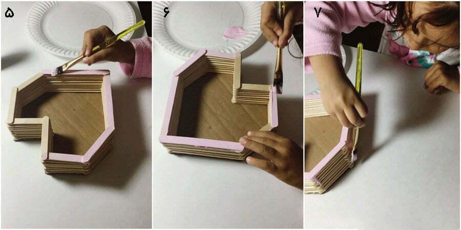 مرحله سوم، تکمیل کاردستی جعبه قلب مدل دوم