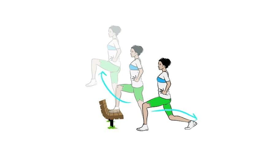 ورزش در پارک حرکت قدم به قدم
