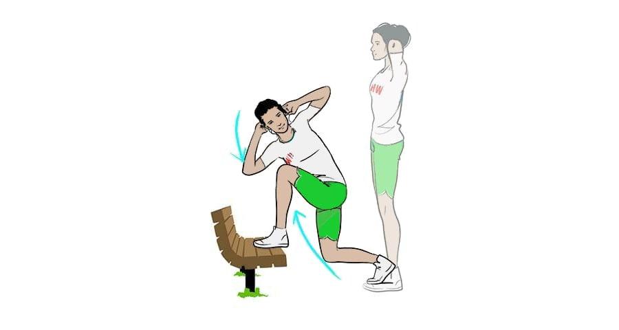 ورزش در پارک حرکت چرخشی لانگ