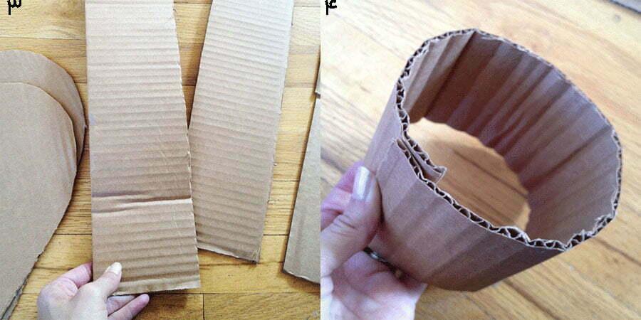 مرحله دوم، ساخت دیواره کاردستی جعبه قلبی مدل اول