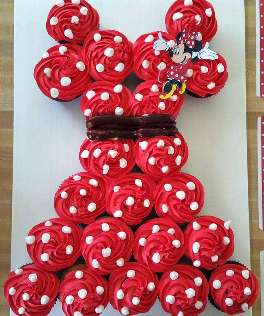آموزش درست کردن کیک تولد با کاپ کیک