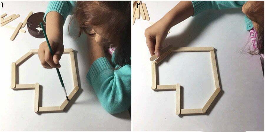 مرحله اول کاردستی جعبه قلبی مدل دوم، ساخت دیواره جعبه