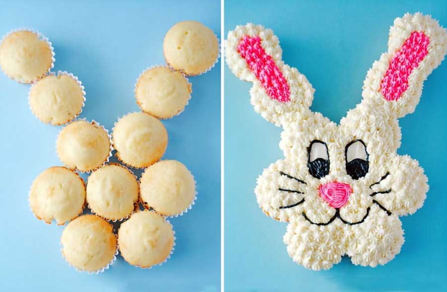 طرز تهیه کیک تولد با کاپ کیک