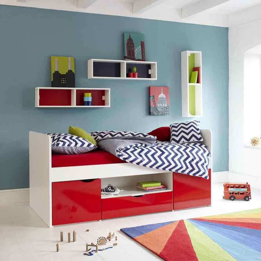 تخت خواب چندکاره با فرش رنگین کمانی
