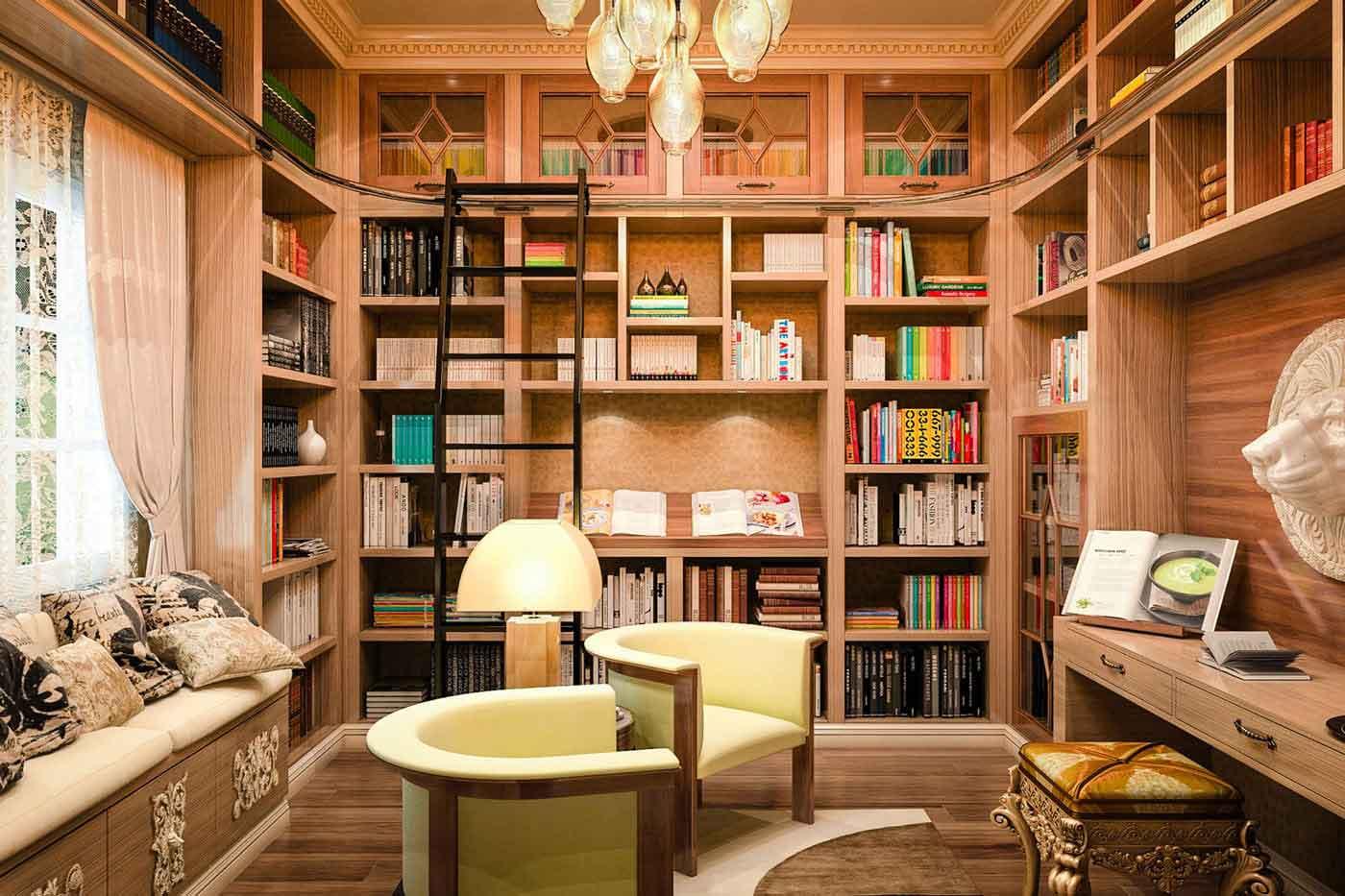 کتابخانه کوچک در خانه