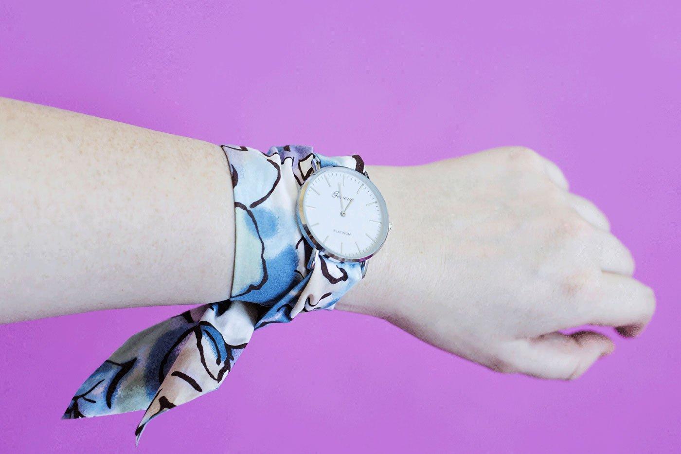 ساخت بند ساعت پارچهای به روش آسان