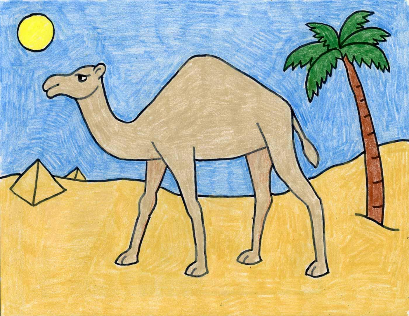 نقاشی شتر