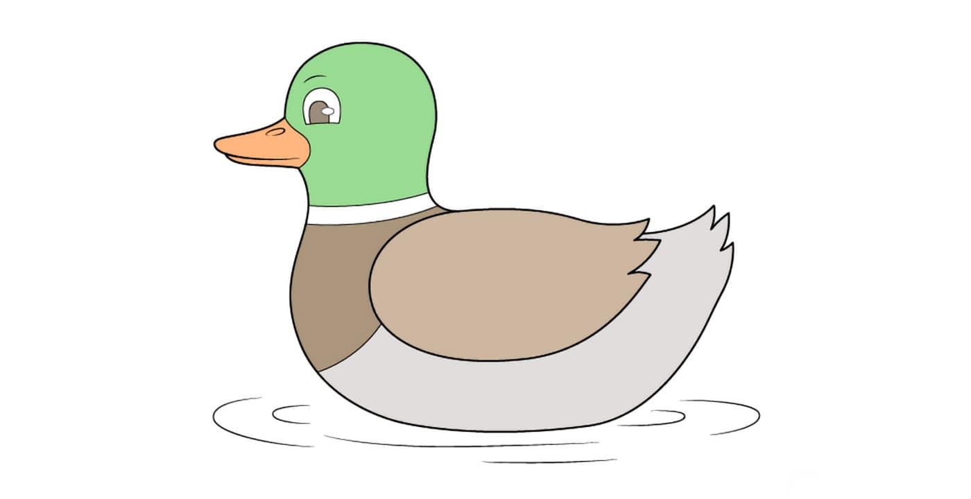 آموزش تصویری و مرحله به مرحله نقاشی اردک | کاغذ رنگی