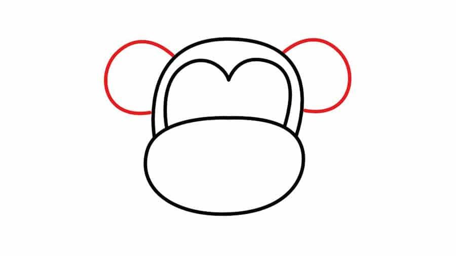 کشیدن نقاشی میمون