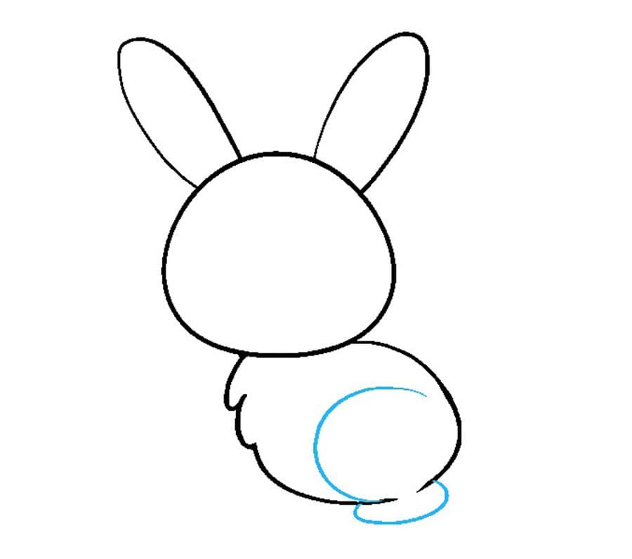 مرحله ششم نقاشی خرگوش - رسم پای خرگوش