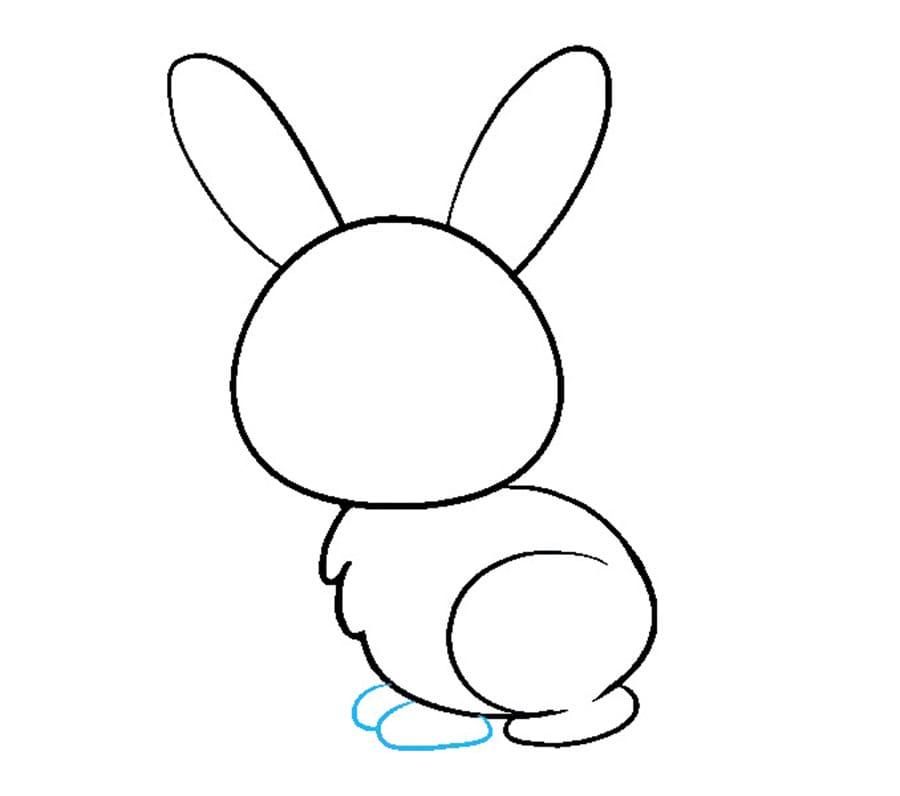مرحله هفتم نفاشی خرگوش - کشیدن دستها