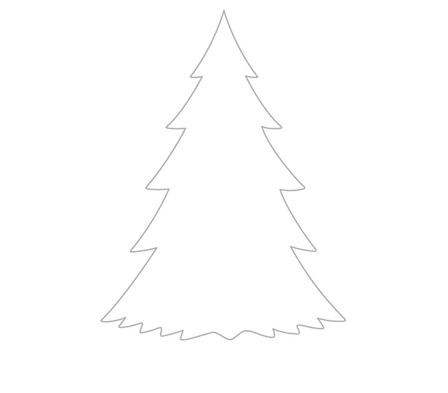 مرحله سوم نقاشی درخت کاج - طراحی پایین درخت