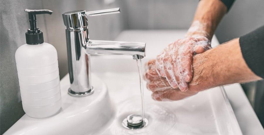 صحیح شستن دست ها