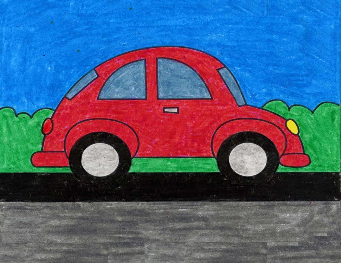 کشیدن نقاشی ماشین