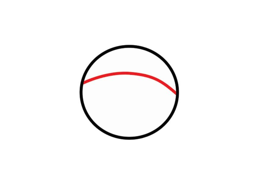 کشیدن خط پیشانی در نقاشی آدم برفی