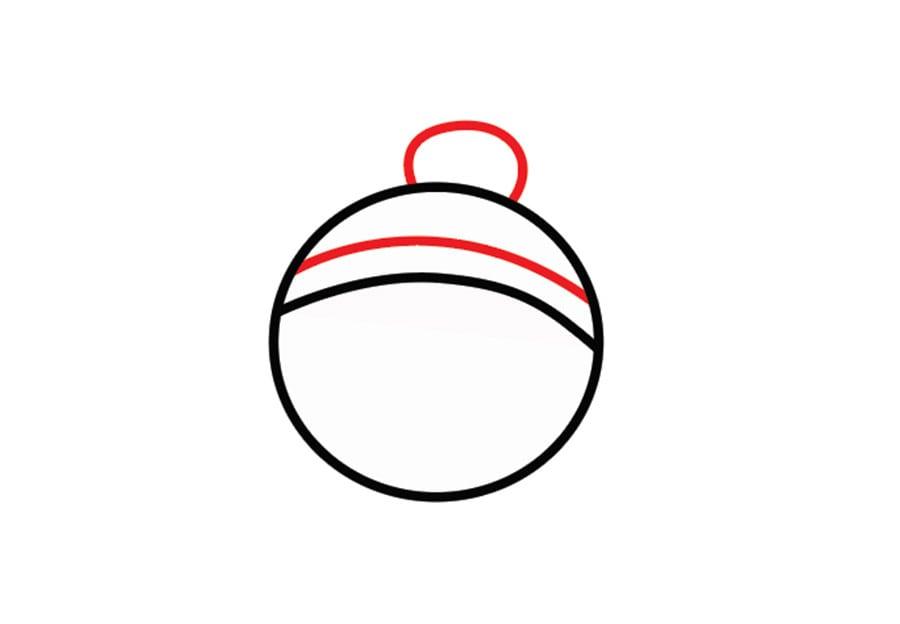 مرحله سوم نقاشی آدم برفی - رسم کلاه
