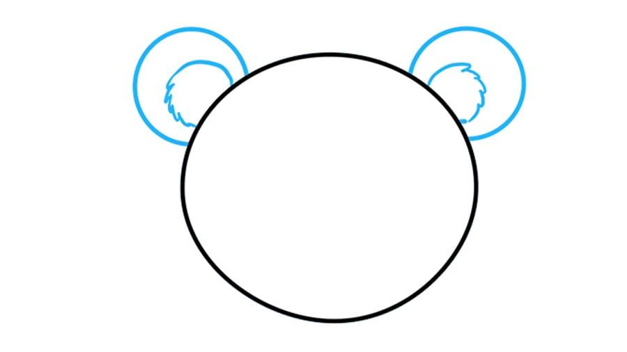 مرحله دوم آموزش نقاشی خرس قلبی
