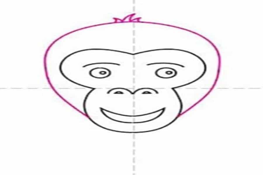 نقاشی میمون ساده