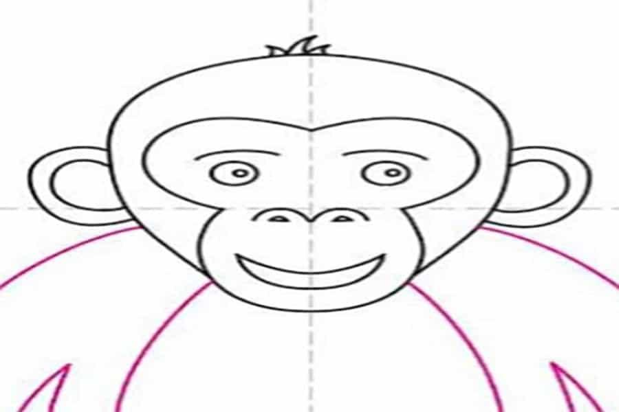 آموزش نقاشی میمون برای کودکان