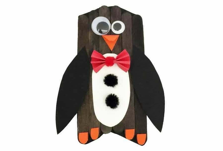 ساخت پنگوئن با چوب بستنی