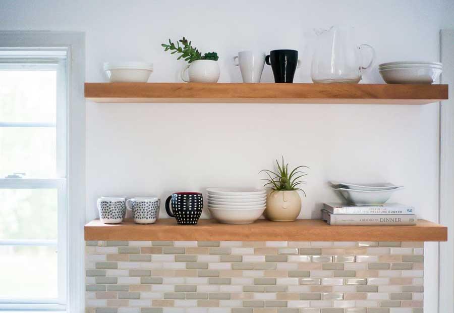 نصب قفسه در آشپزخانه