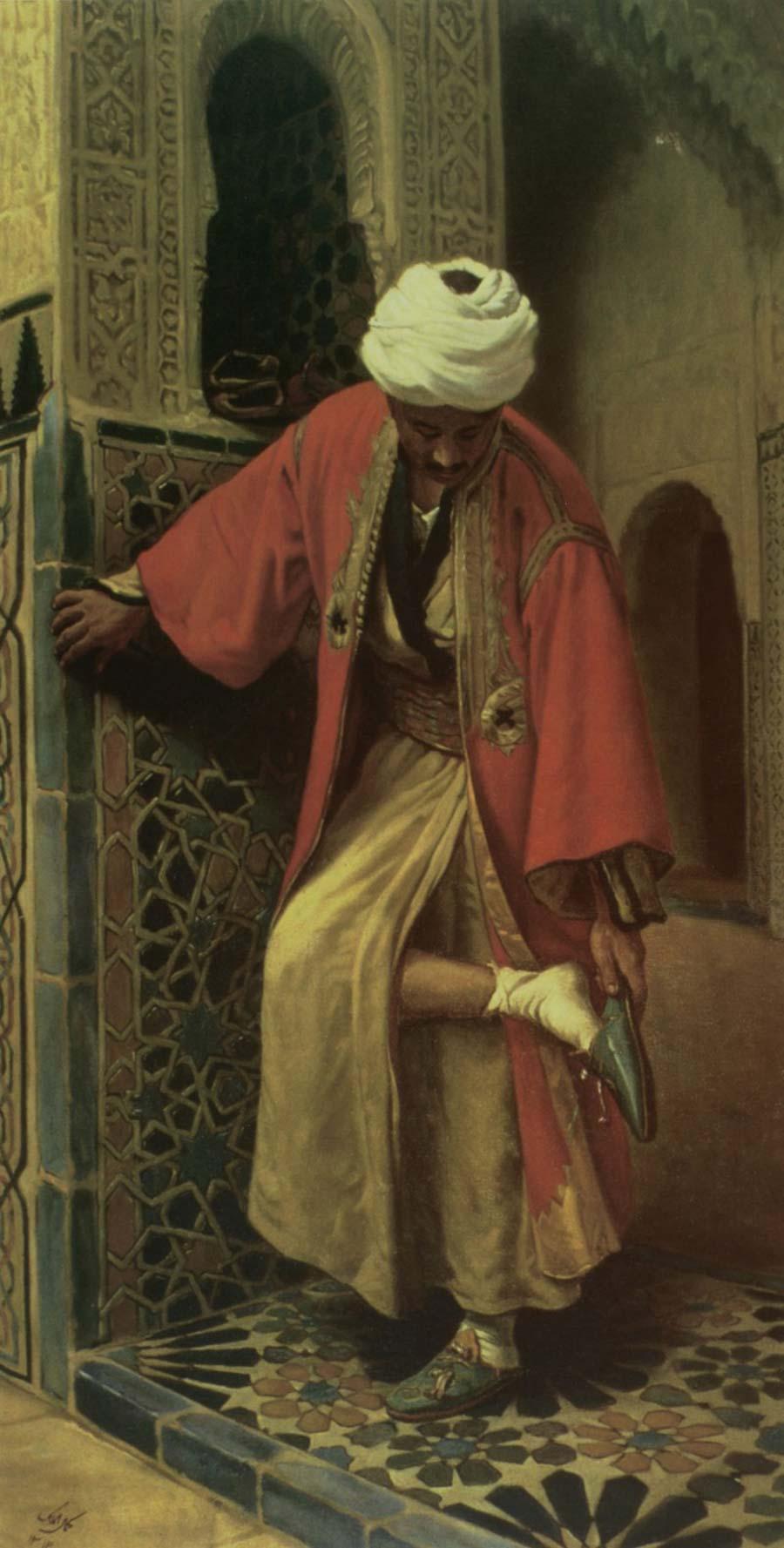 نقاشی مرد مصری